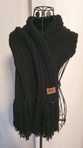 Dolce & Gabbana Sciarpa lavorata a maglia nero