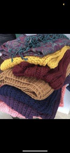 Écharpe en tricot multicolore