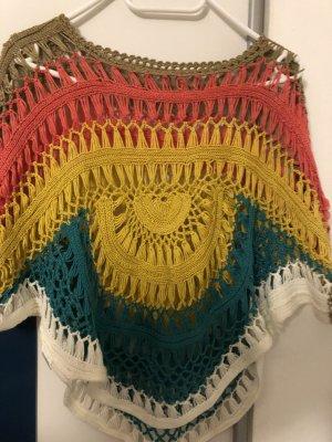 Top en maille crochet multicolore