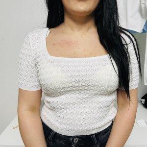Szydełkowana koszulka biały