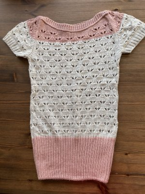 Short Sleeve Knitted Jacket rose-gold-coloured-oatmeal