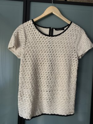 Twin-Set Simona Barbieri Short Sleeve Knitted Jacket natural white-black