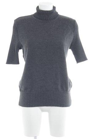 Strickshirt dunkelgrau Casual-Look