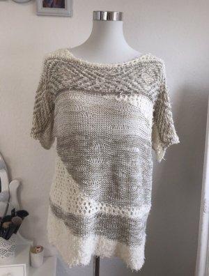 PUNT ROMA Crochet Top white-beige
