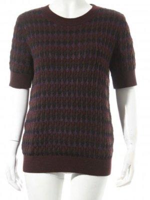 COS Sweter z krótkim rękawem fiolet-ciemnozielony
