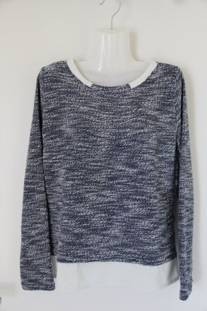 Danity Knitted Sweater blue-white