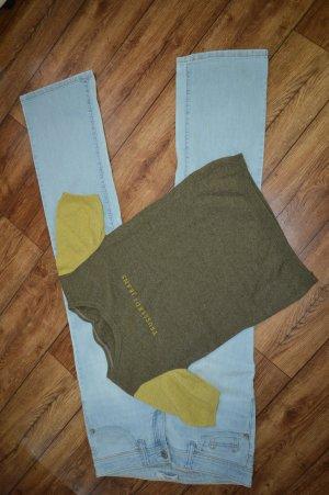 Trussardi Jeans T-shirts en mailles tricotées kaki