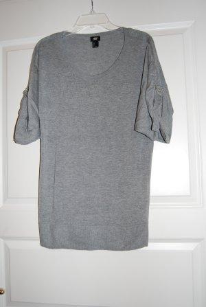 Strickshirt von H&M, hellgrau, Gr. S, sehr guter Zustand