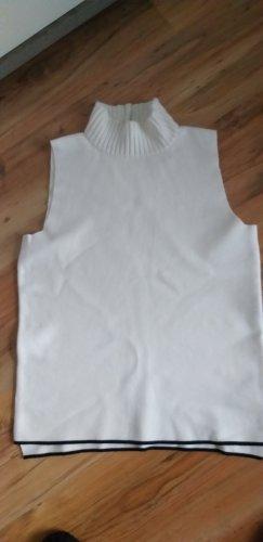 Zara Knit Camisa de cuello de tortuga blanco-negro