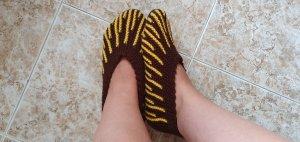 handmade House Boots brown-yellow