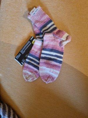 Pantoufles-chaussette multicolore