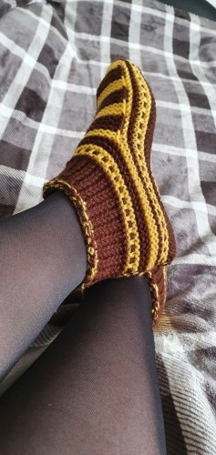 House Boots brown-yellow