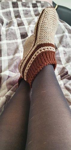Botas de casa marrón-beige