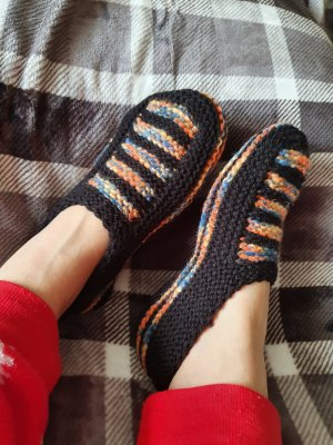 House Boots black-apricot