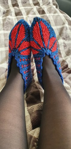 House Boots red-blue