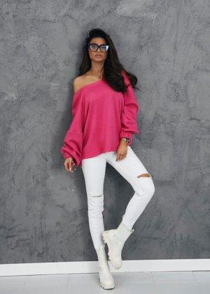 Suéter rosa-magenta