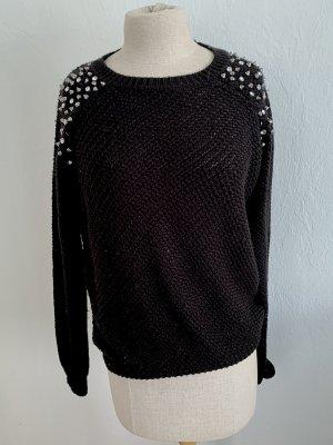 Athmosphere Sweter z dzianiny czarny