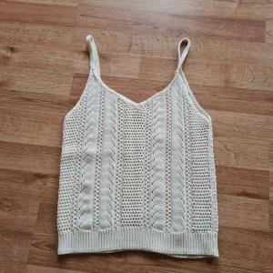 Mango Crochet Shirt cream