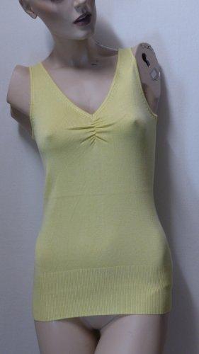 Haut tricotés jaune primevère viscose