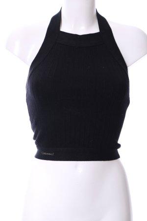 Haut tricotés noir style décontracté