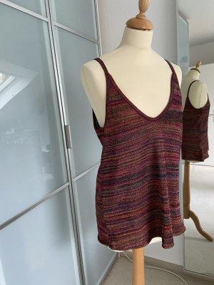 Zara Knit Haut tricotés multicolore
