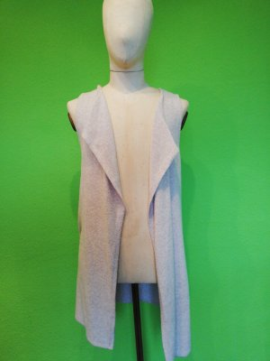 C&A Clockhouse Long Knitted Vest cream viscose