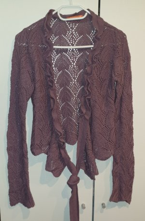 Broadway Knitted Wrap Cardigan mauve