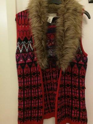 H&M Gilet tricoté rouge carmin