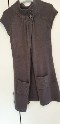 Cardigan à manches courtes gris foncé laine