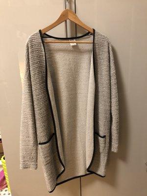 Vero Moda Cardigan lungo smanicato grigio chiaro-bianco