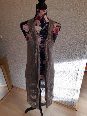 Amy Vermont Smanicato lavorato a maglia grigio-marrone-grigio