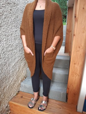 keine Long Knitted Vest light brown