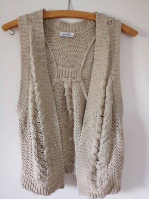 Pimkie Knitted Vest oatmeal