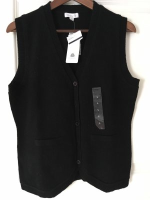 Brookshire Knitted Vest black wool