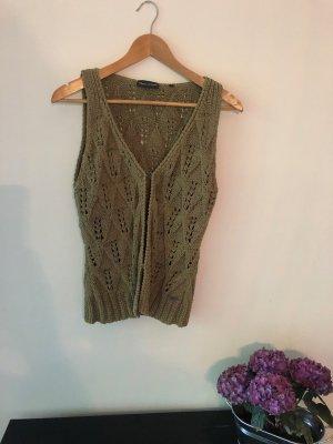 Marc O'Polo Short Sleeve Knitted Jacket olive green-khaki cotton