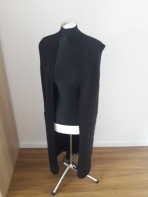 Bershka Long Knitted Vest black