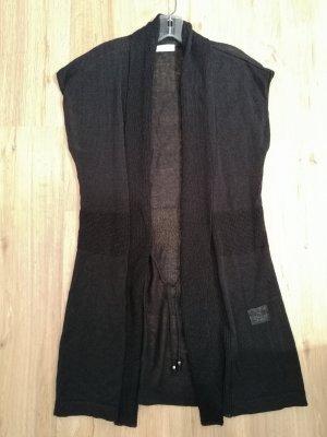 Bonita Gilet tricoté noir lin