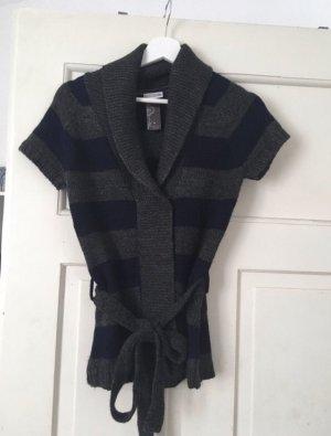 Street One Gilet tricoté gris foncé-bleu foncé