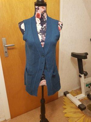 Boysen's Smanicato lavorato a maglia blu acciaio