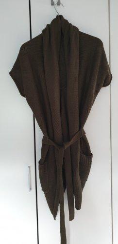 Colours of the World Short Sleeve Knitted Jacket green grey polyacrylic