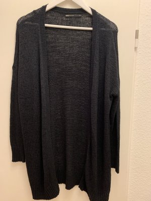Vero Moda Gilet long tricoté bleu foncé