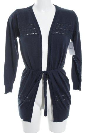 Strickweste dunkelblau Street-Fashion-Look