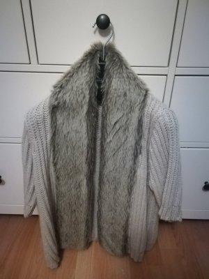 Zara Chaleco de punto gris claro-gris