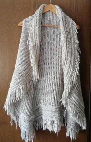 Gilet long tricoté beige clair
