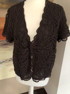 Gerry Weber Short Sleeve Knitted Jacket dark brown