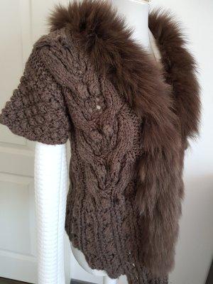 Gilet tricoté brun
