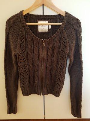 H&M Gilet tricoté gris foncé