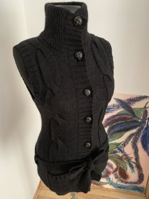 H&M L.O.G.G. Chaleco de punto negro-gris lana de alpaca