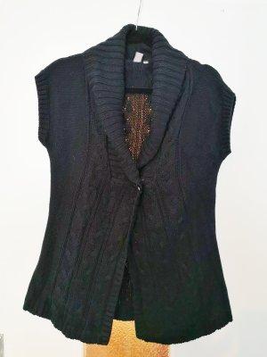 PIAZA ITALIA Smanicato lavorato a maglia nero