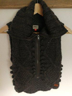 Only Smanicato lavorato a maglia grigio scuro-antracite